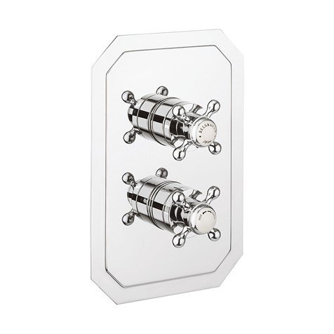 Belgravia 1000 Thermostatic Valve Trim With Single Integrated Volume  Control and Cross Handles