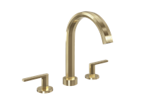 Heir Widespread Faucet in Brushed Brass