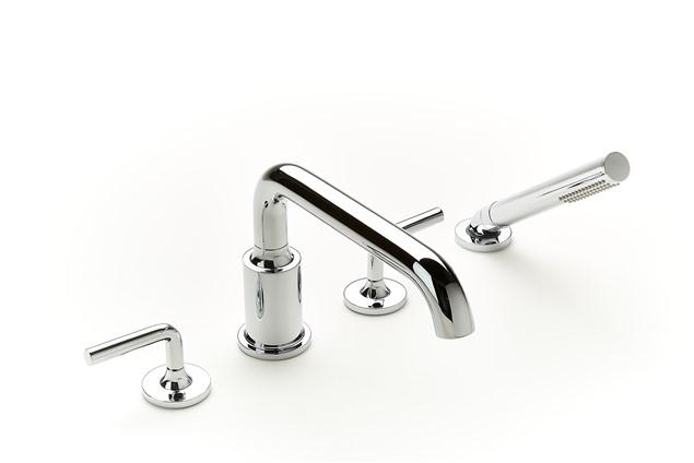 Deck Mount Bathtub Faucet.Taos Deck Mount Bathtub Faucet With Handshower Trim