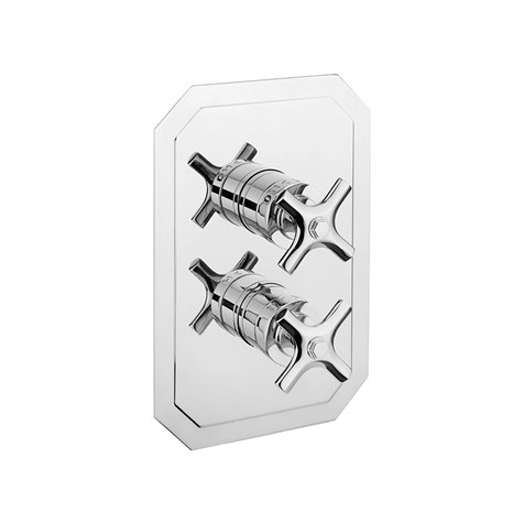 Waldorf 1500 Thermostatic Valve Trim with Integrated Volume  Control/Diverter and Cross Handles