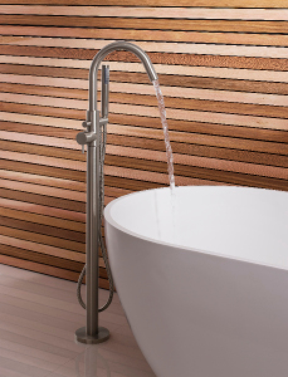 Mpro Floor Mount Exposed Single Hole Tub Filler With