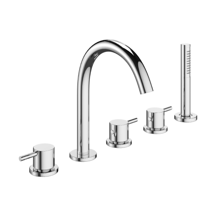 MPRO Deck Mount Five Hole Tub Faucet with Handshower in Belgravia ...