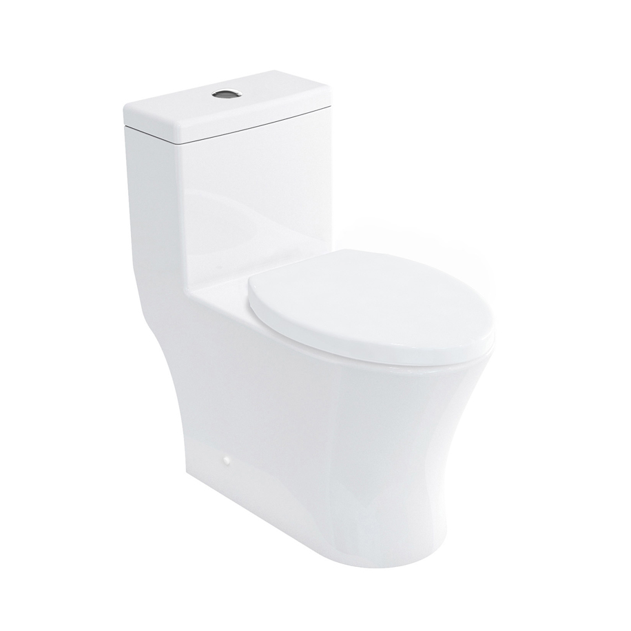MPRO One-piece Dual-flush Toilet in Belgravia Crosshead | Luxury ...